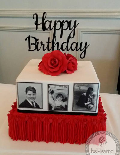 Birthday Cake with edible images