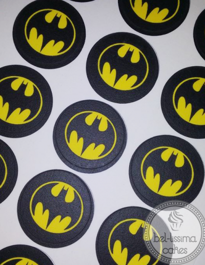 Batman cupcake edible images