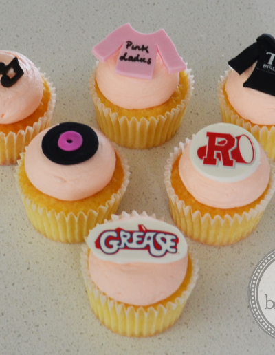Grease Cupcakes with edible images
