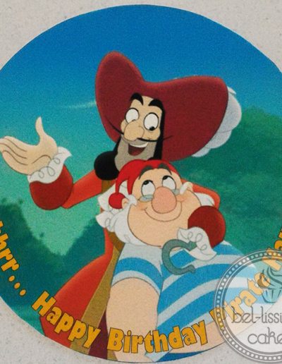 Hook and Smee edible image