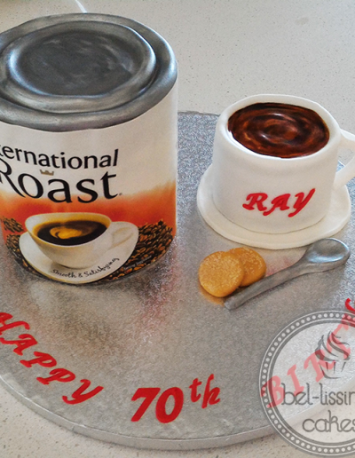 International Roast Birthday Cake