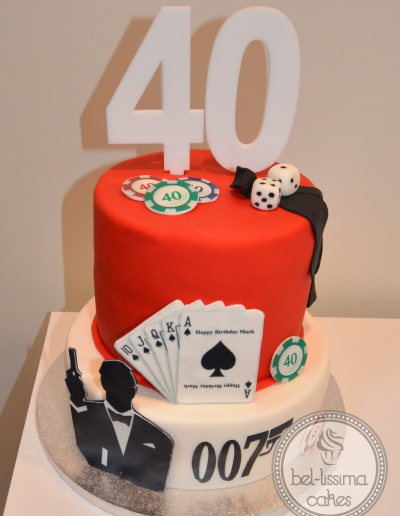 James Bond 40th Birthday Cake