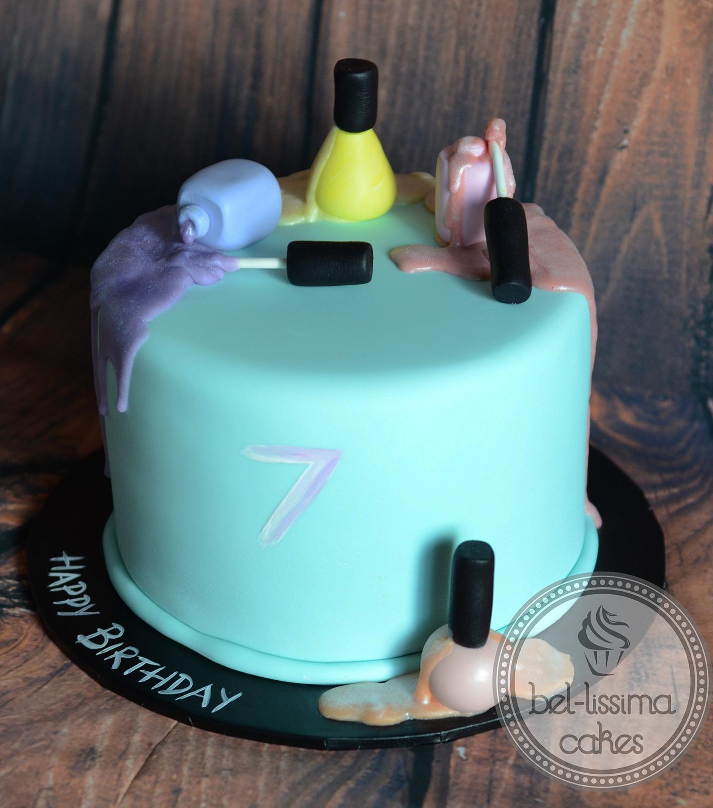 Fingernail Polish Birthday Cake Hession Hairdressing