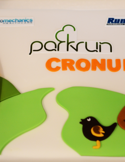 Parkrun Cake with edible images