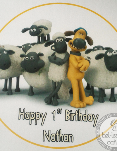Shaun the Sheep edible image