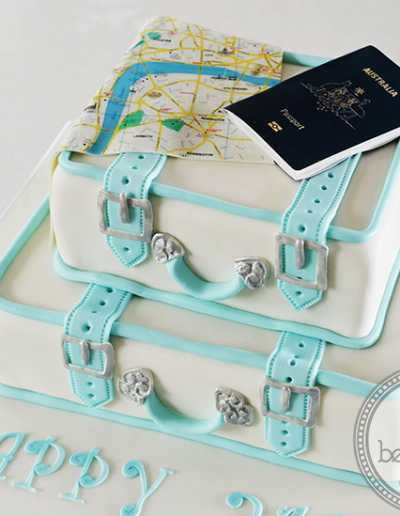 Stacked Suitcase Birthday Cake