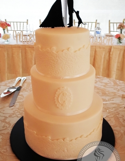 Wedding Cake with lace detail