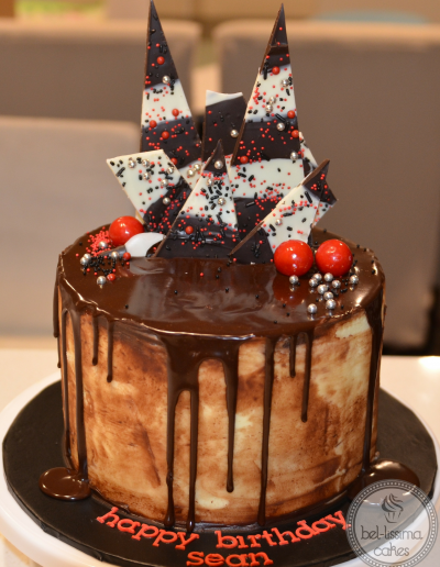 Chocolate Shard Birthday Cake