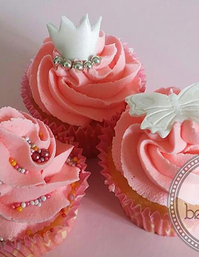 Close up of Pink Cupcakes
